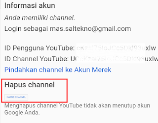 hapus channel