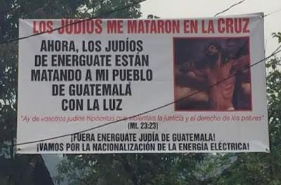 Manifestación antisemita en Guatemala