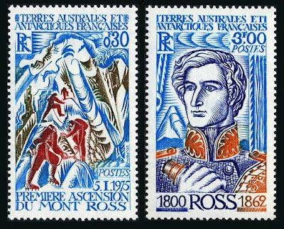 French Southern & Antarctic Territory First climbing of Mount Ross, James Clark Ross