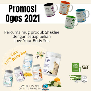 Promosi Shaklee Ogos 2021