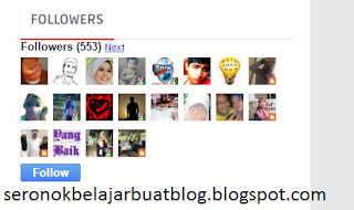 BUTTON UNFOLLOW UNTUK BLOG !