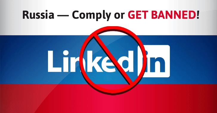 LinkedIn to get Banned in Russia for not Complying with Data Localization Law