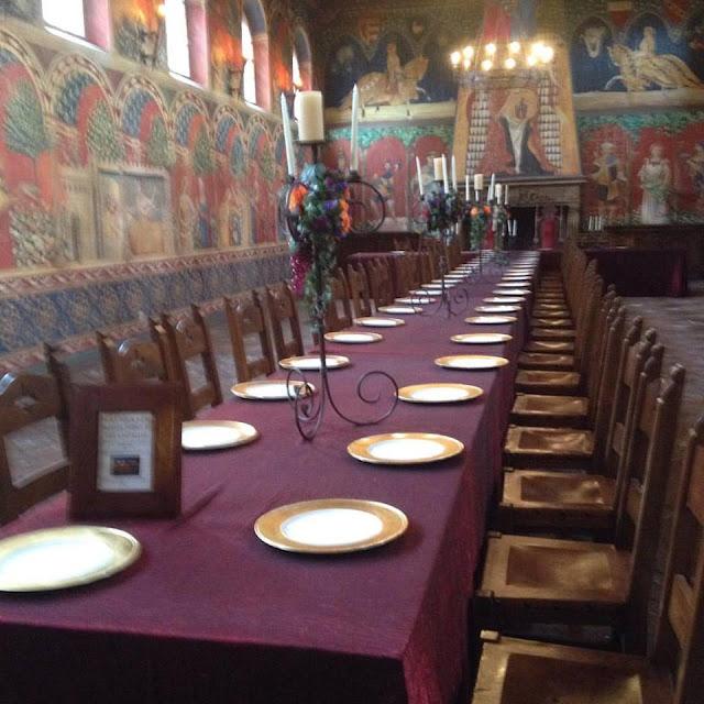 The Great Hall of Castello di Amorosa in Napa Valley