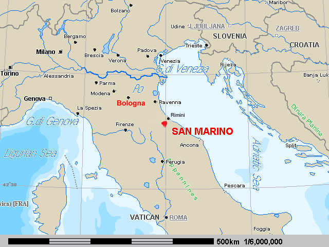 But The Republic Of San Marino Is A Real Country And It S Not Far From Bologna So Last Week We Spent Night There