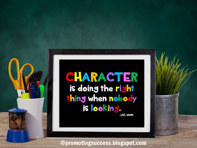 free printable classroom character counts poster