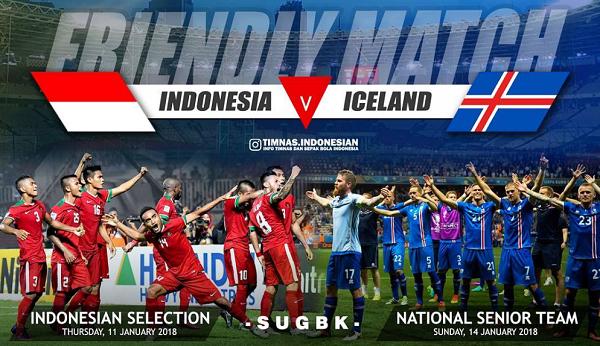 Jadwal Siaran Langsung Timnas Indonesia Lawan Islandia