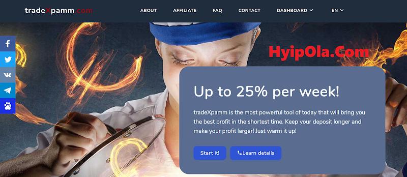 [SCAM] Review Tradexpamm - Lãi up 3.6% hằng ngày - Rút vốn bất kỳ lúc nào
