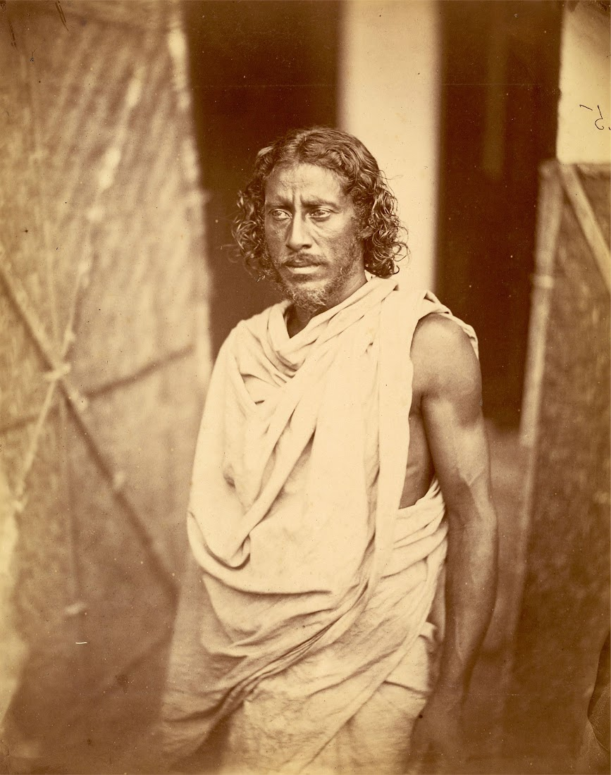 Vintage Photograph of a Man from Eastern Bengal - 1860's