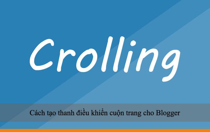 Cách tạo thanh điều khiển cuộn trang cho Blogger
