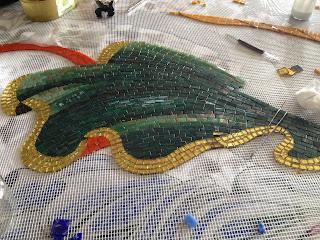 yeşil mozaik pelerin yapımı