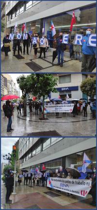 Mobilización da CIG nas oficinas de Calvario e Urzaiz en Vigo. Imaxe: CIG BBVA (cc) BY-NC-SA