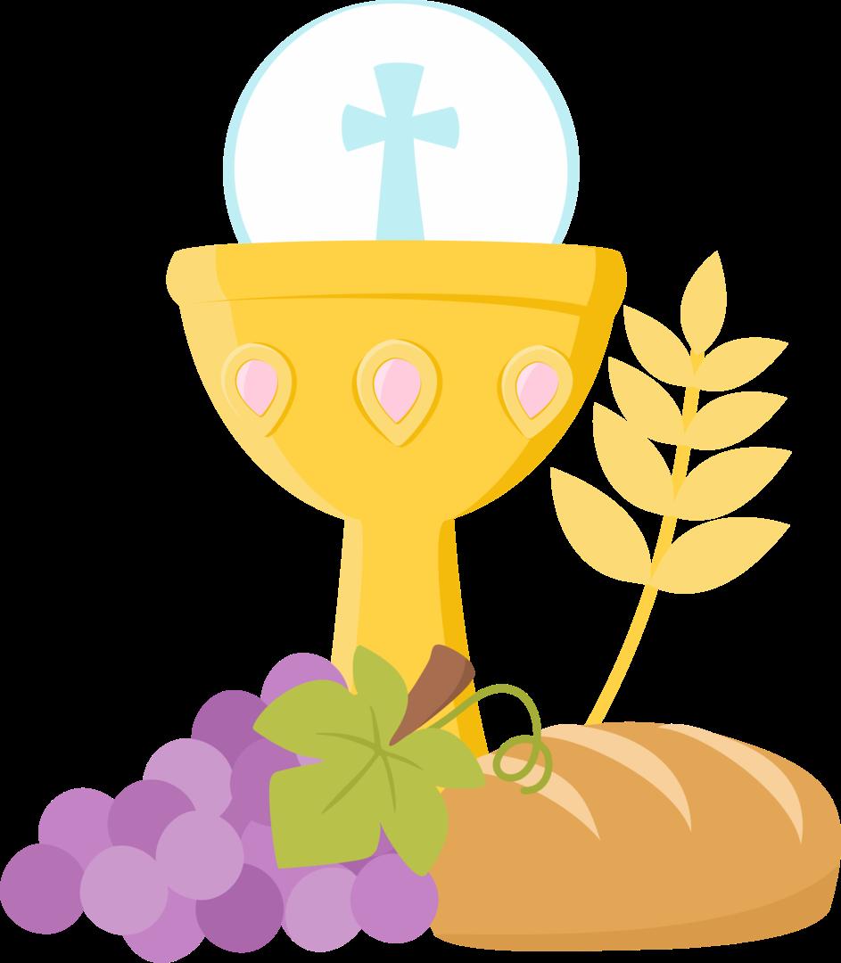 First communion objects clip art oh my first communion - Comment decorer un grand vase transparent ...