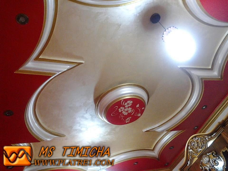 Foux d cor en platre ms timicha d coration marocaine for Decoration platre salon