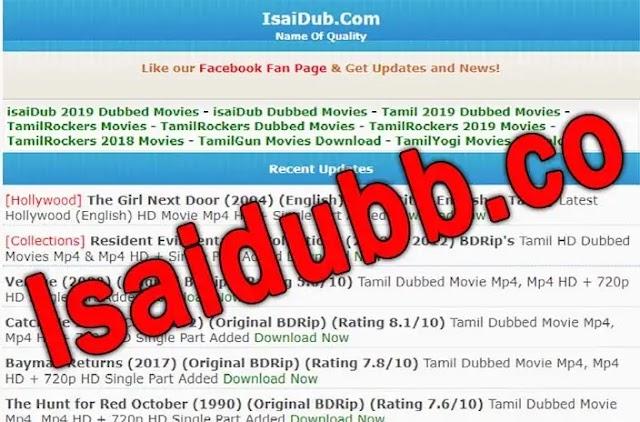 Isaidubb.co | 2021 Tamil dubbed Movies Download Website Live link: Tamilrockers, Tamilyogi