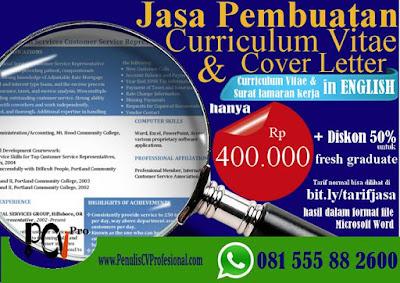 Jasa Pembuatan Curriculum Vitae  Kerja Bahasa Inggris