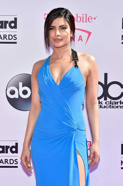 Priyanka Chopra Dazzles In Backless Blue Gown At Billboard Awards