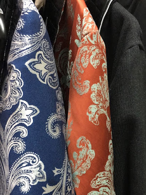 men's jacquard silk cotton paisley dressing gowns luxury robes