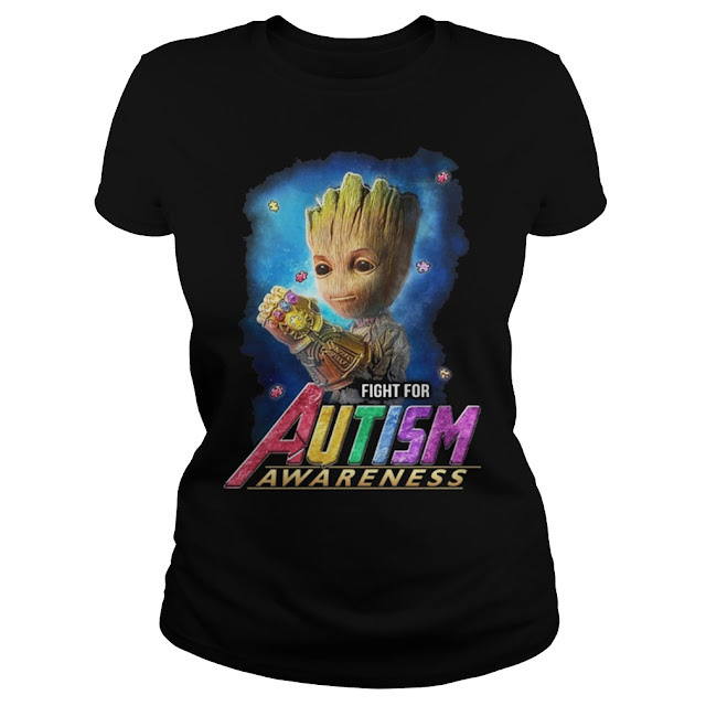 Fight For Autism Awareness Cute Baby Groot With Infinity Gauntlet T-Shirt Hoodie. GET IT HERE