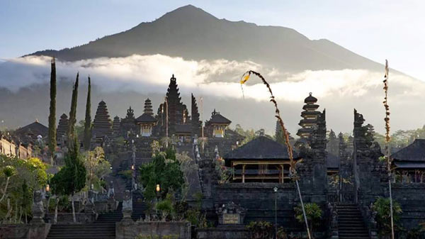1000 years old Besakih Hindu Temple At Indonesia