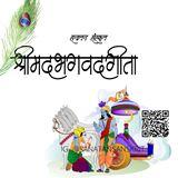 """lord krishna telling """"bhagwad geeta"""" to Arjun"""