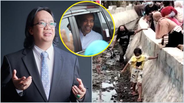 Aksi Bagi-bagi Kaos Bikin Warga Masuk Got, Gus Nadir ke Jokowi: Tak Ada Cara yang Lebih Santun?