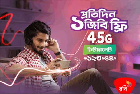 Robi 4G Internet Offer 4GB Free Data