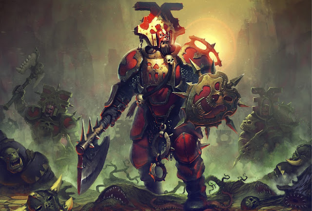 Warhammer age of sigmar khorne blood warrior artwork battle ilustration fantasy