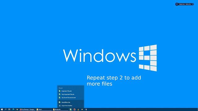 Pinning files on LibreOffice taskbar in Windows 10 - 4