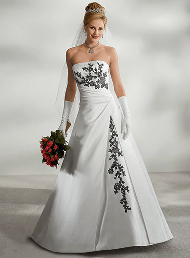 Vestidos de novia bordado negro
