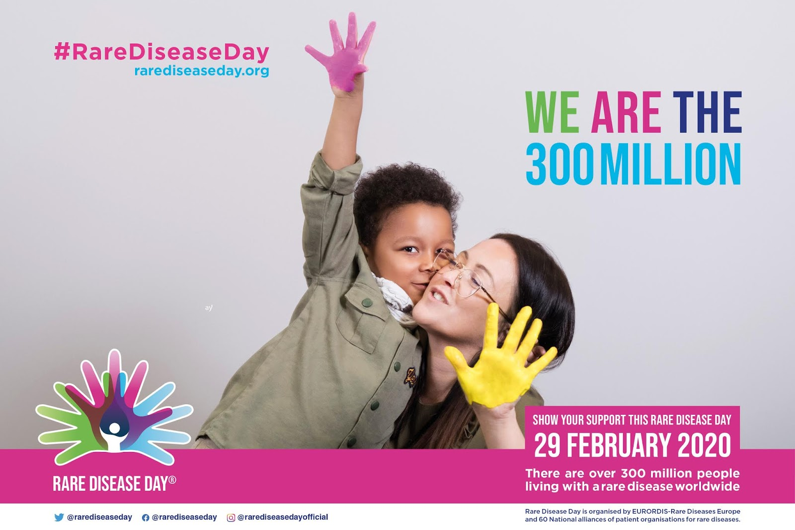 Rare Disease Day takes place on the last day of February each year. The main objective of Rare Disease Day is to raise awareness amongst the general public and decision-makers about rare diseases and their impact on patients' lives.