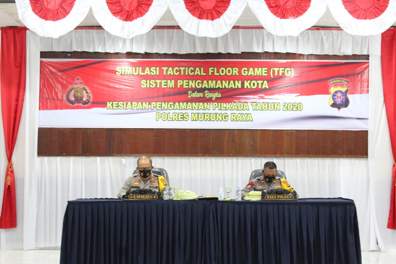 Polres Mura Gelar Tactical Floor Game Menjelang Pilkada 2020