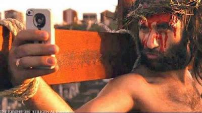Lustiger Picdump Smartphone Jesus am Kreuz - Kirche lustig
