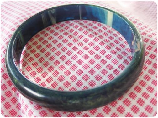blue moon bakelite bracelet