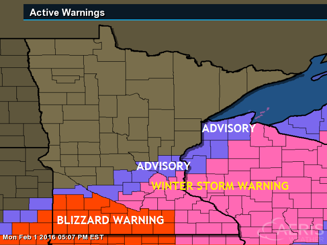 Tim Burrs Weather Blog February Weather Report A - Us weather warnings map