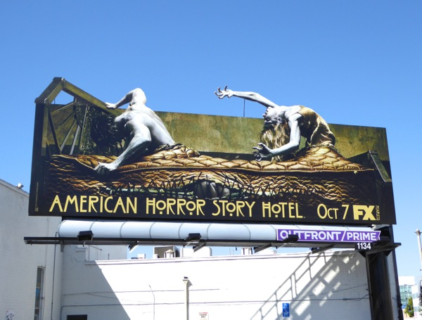 American Horror Story Hotel special extension billboard
