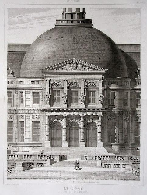 Château en Vaux-le-Vicomte de Nicolás Fouquet | Luis Le Vau + Charles Le Brun + André Le Nôtre