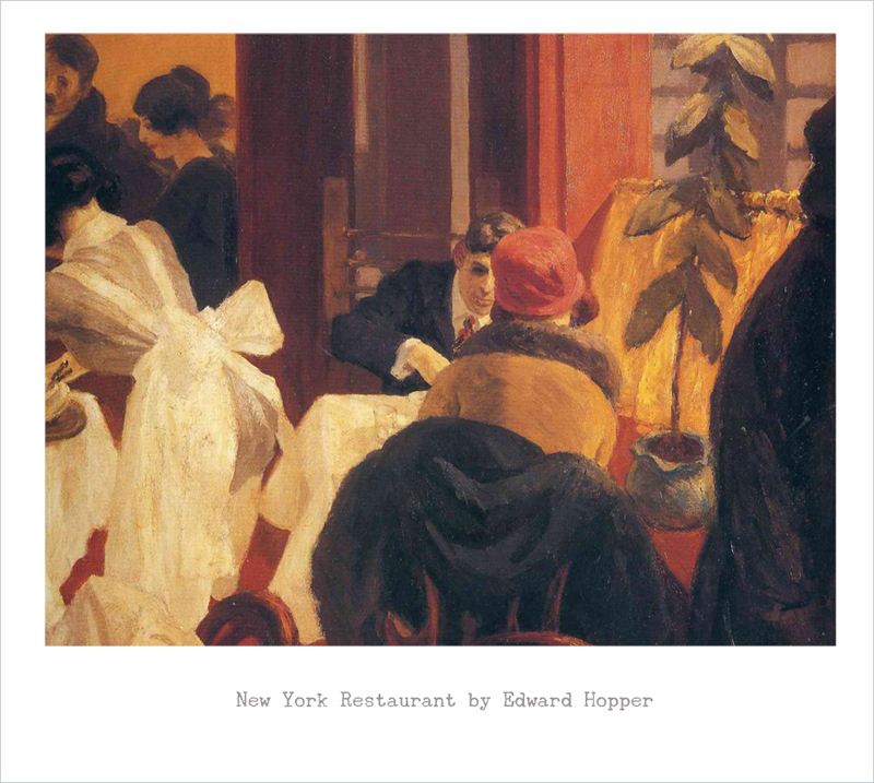 New York Restaurant, Edward Hopper