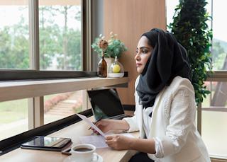 Tutorial Hijab Saudia