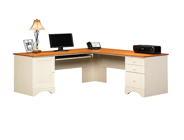 best white wood corner home office desk for computer sale