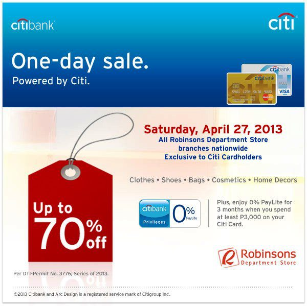 Manila Shopper: Citibank & Robinsons Department Store One