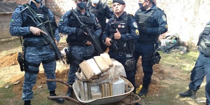 Equipe do 'Gusmão' prende quadrilha com 65 quilos de maconha e arma