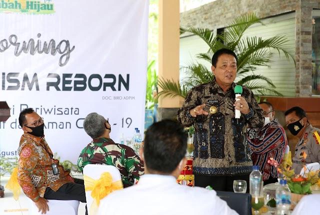 Coffee Morning Lampung Tourism Reborn, Gubernur Arinal Ajak Semua Pihak Bangkitkan Pariwisata Lampung dengan Protokol Kesehatan
