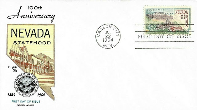 5c Nevada Statehood FDC