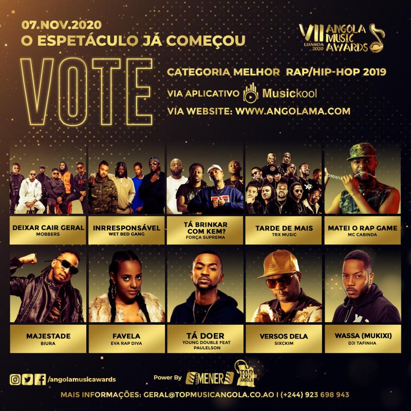 Sixckim concorre prémio de melhor Rap/Hip-Hop 2019 no Angola Music Awards