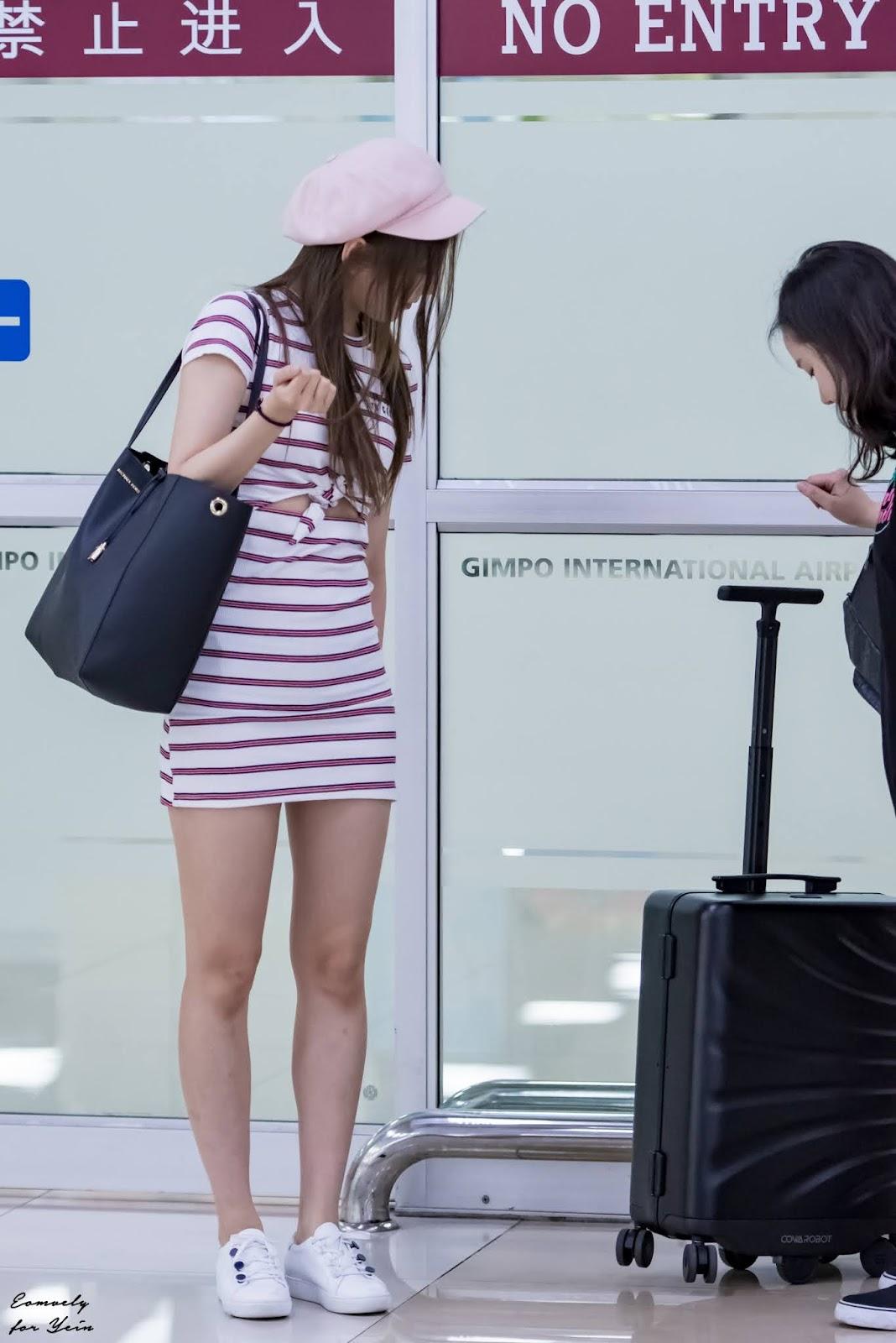 자율주행 캐리어보다 눈길 가는 러블리즈 예인 공항 패션
