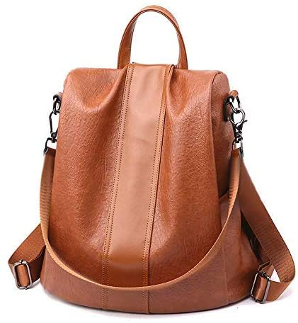75%off Women Backpack Purse Leather Anti-theft Backpack Casual Satchel Shoulder Bag for Girls