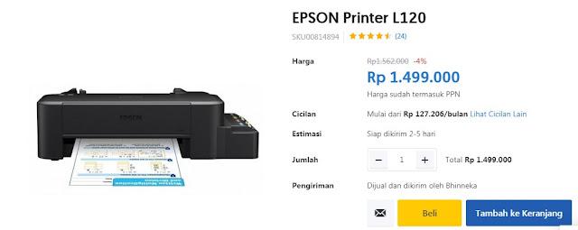 Harga Printer Epson L120