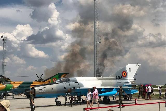 Romanian MiG-21 LanceR crash Borcea