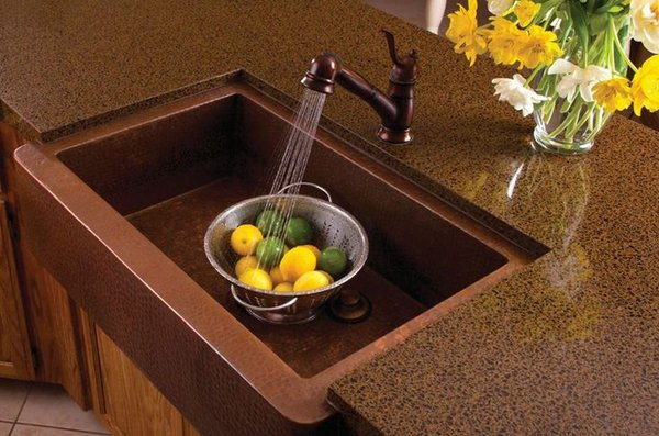 Copper Sink Design Ideas - Under Mounted