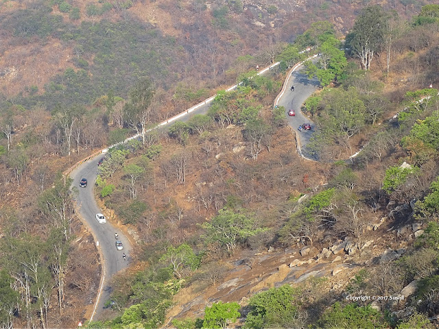 Down Hill Road View from the Top of Nandi Hills, Bangalore